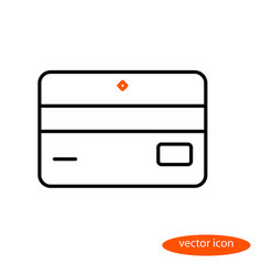 simple linear image of bank card or vector image vector image