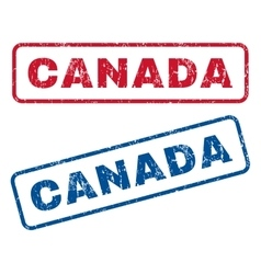 Canada rubber stamps vector