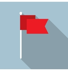 Flag Flat Icon vector image