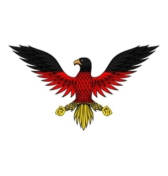 German eagle bird in flag colors vector image