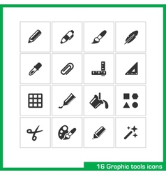 Graphic tools icon set vector image vector image