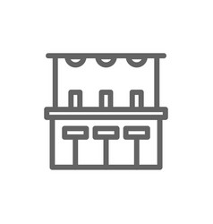 simple bar counter line icon symbol and sign vector image