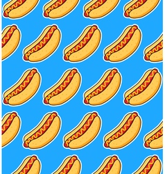 sticker hot dogs vector image vector image
