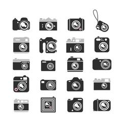 Cameras icons set vector image