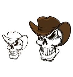 Cowboy skull in hat vector image