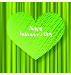 Green Valentines day card vector image vector image