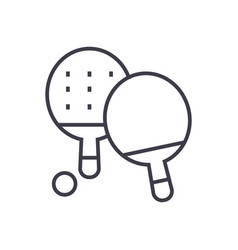 ping pong line icon sign on vector image vector image