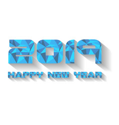 2019 happy new year blue vector image