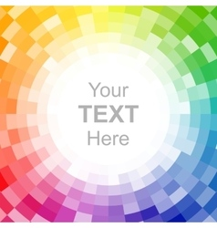 Abstract pixelated color wheel background vector