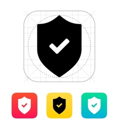 Accept shield icon vector
