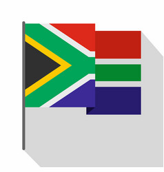 African flag icon flat style vector