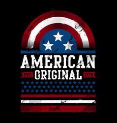 American original est 1776 vector
