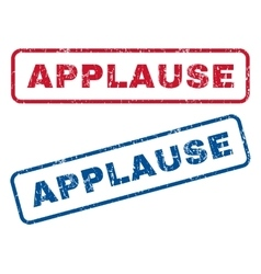 Applause Rubber Stamps vector