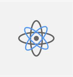 atomic flat icon isolated on white background vector image