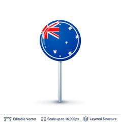 Australia flag isolated on white vector
