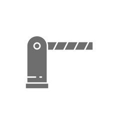 Automatic parking barrier grey icon isolated vector