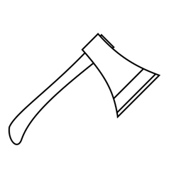 Axe icon outline style vector image