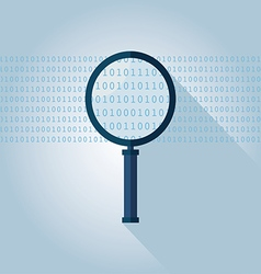 Big data Binary data search vector image