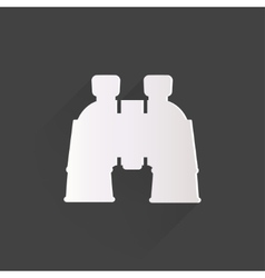 Binocular icon symbol vector image