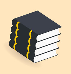 Books stack icons isolated pictogram for your vector