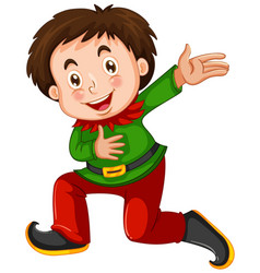 Boy in a elves costume vector