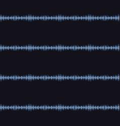 Broken thin stripe shibori tie dye indigo blue vector