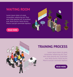 business training or coaching service banner vector image