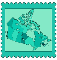 Canada on stamp vector image vector image