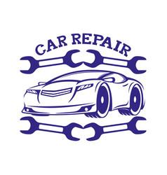 Car repair sign vector