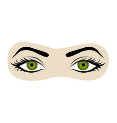 Color silhouette with female eyes open and eyebrow vector