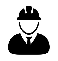construction worker icon person profile avatar vector image