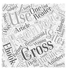 Cross Promoting Techniques that Work Word Cloud vector