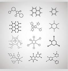 dna molecule structure set vector image