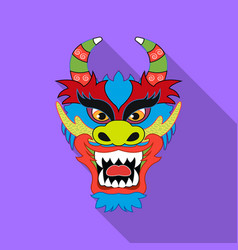 dragon icon in flat style isolated on white vector image
