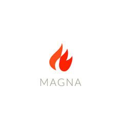 fire logo design flame icon logotype vector image