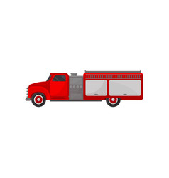 fire truck vehicle side view vector image