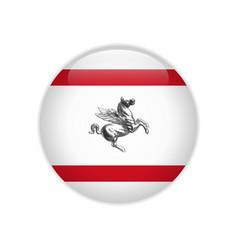 Flag tuscany button vector
