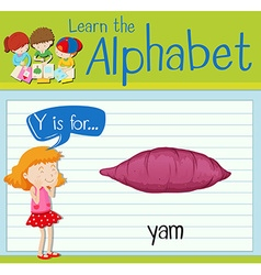 Flashcard letter Y is for yam vector