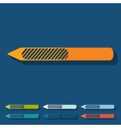Flat design nail file vector