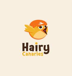 Hairy canary logo canary vector
