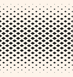 Halftone geometric pattern with diamond shapes vector