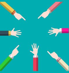 hands design business meeting symbol vector image