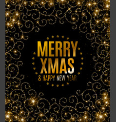 Happy new year text calligraphic lettering new vector