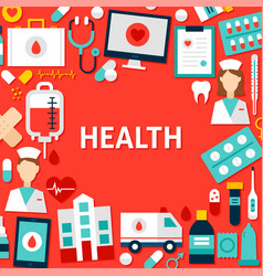 health paper template vector image