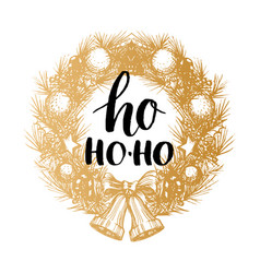 ho ho-ho design of handwritten phrase in vector image