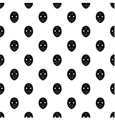 Hockey goalkeeper helmet pattern seamless vector