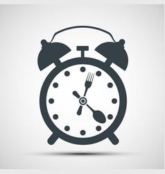 icon alarm clock vector image