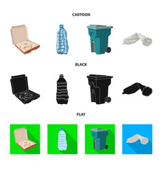 isolated object of dump and sort symbol set of vector image