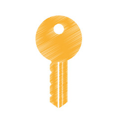 key door isolated icon vector image