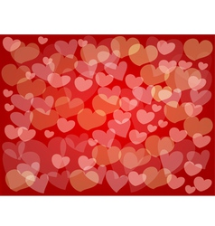 Little hearts make a beautiful red background vector